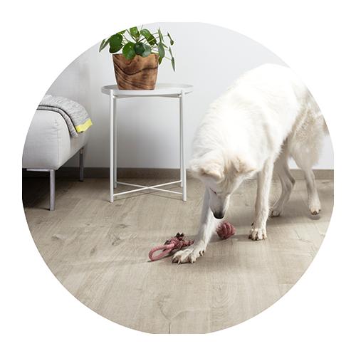 Scratch-resistant vinyl floors